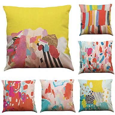 σύνολο 6 χρωματιστά γραφικά γραφείου γραφείου γραφείου καναπέδες γραφείου διακοσμητικές διακοσμητικές μαξιλαροθήκες (18