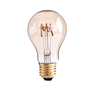 4W B22 E26/E27 LED Filament Bulbs G60 1 leds COB Dimmable Warm White 1000lm 2700-3500K AC 220-240 AC 110-130V