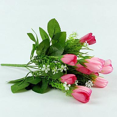 1 Gałąź Jedwab Tulipany Sztuczne Kwiaty 33