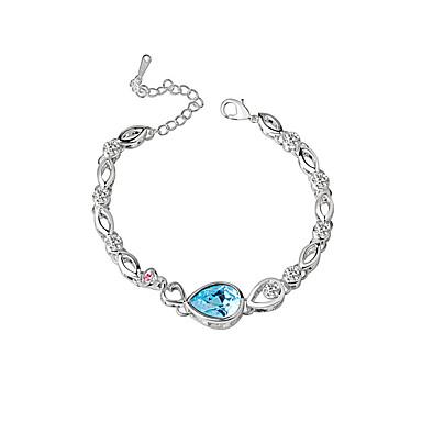 Kadın Zincir & Halka Bileklikler Kristal Kristal alaşım Doğa Moda Round Shape Mavi Mücevher 1pc
