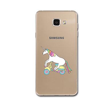 إلى نحيف جداً نموذج غطاء غطاء خلفي غطاء آحادي القرن ناعم TPU إلى Samsung A7(2016) A5(2016)