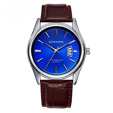 Bărbați Ceas Elegant  Ceas La Modă Quartz Calendar Piele Bandă Casual Negru Maro