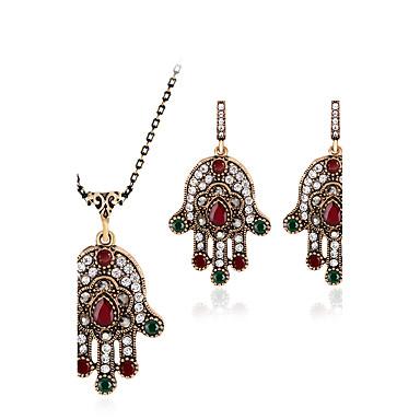 Zestawy biżuterii Syntetyczne kamienie szlachetne Żywica Kryształ górski Pozłacane Imitacja diamentu Stop Inne Luksusowy Vintage