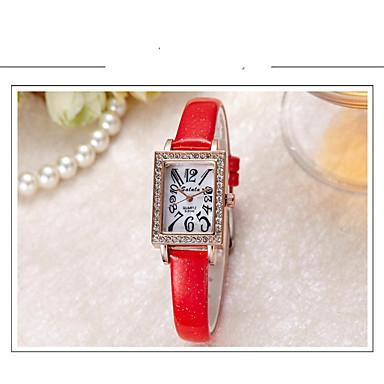 pentru Doamne Ceas La Modă Simulat Diamant Ceas Quartz Piele Bandă Casual Negru Alb Albastru Roșu Gri Pink VioletGri Mov Rosu Albastru