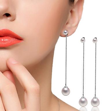 Kolczyki wiszące Cyrkonia Cyrkonia Posrebrzany Stop Silver Biżuteria Na Ślub Impreza Codzienny Casual 1 para