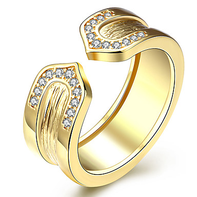 عصابة يوميا مجوهرات معدني خاتم 1PC,8 ذهبي ذهبي روزي