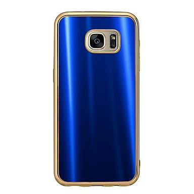 Varten Pinnoitus Etui Takakuori Etui Yksivärinen Pehmeä TPU varten Samsung S7 edge