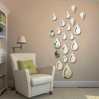 مرايا أشكال ملخص ملصقات الحائط لواصق ملصقات الحائط على المرآة لواصق حائط مزخرفة,الفينيل مادة تصميم ديكور المنزل جدار مائي