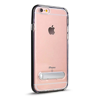 Kılıf Na Apple iPhone 7 / iPhone 7 Plus Z podpórką / Półprzezroczyste Czarne etui Jendolity kolor Twarde PC na iPhone 7 Plus / iPhone 7 /