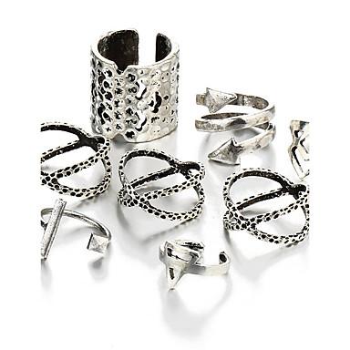 Κρίκοι Πάρτι Halloween Καθημερινά Causal Κοσμήματα Κράμα Δαχτυλίδια για τη Μέση του Δαχτύλου 1set,Ένα Μέγεθος Ασημί