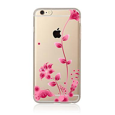 Για Διαφανής Με σχέδια tok Πίσω Κάλυμμα tok Λουλούδι Μαλακή TPU για AppleiPhone 7 Plus iPhone 7 iPhone 6s Plus/6 Plus iPhone 6s/6 iPhone