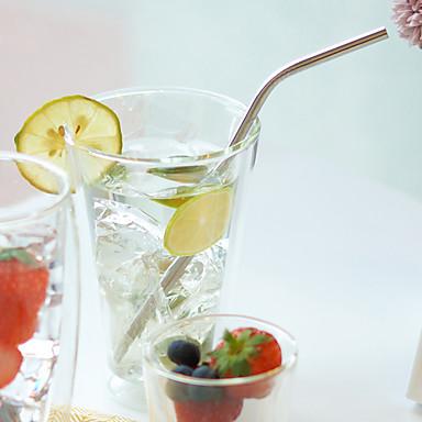 Κλασσικά Ποτήρια, # ml Επαναχρησιμοποιήσιμο Ανοξείδωτο ατσάλι Γάλα αεριούχα ποτά Καλαμάκια