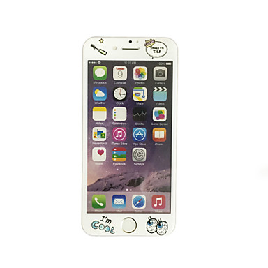 Yumuşak kenar tam ekran kapsama ön ekran koruyucusu karikatür desenli elma iphone 6 / 6s 4.7 inç temperli cam