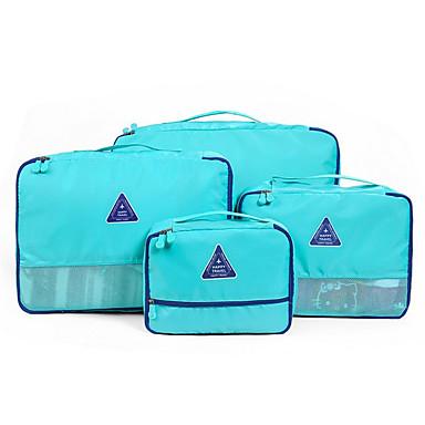 4 piese Geantă Călătorie Organizator Bagaj de Călătorie Impermeabil Depozitare Călătorie Multifuncțional Haine Sutiene Material Textil