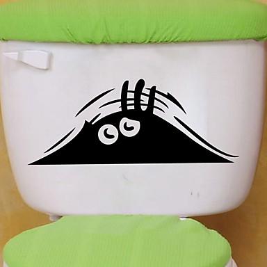 Abstract Desene Animate Perete Postituri Autocolante perete plane Autocolante de Perete Decorative Autocolante toaletă, Hârtie Vinil