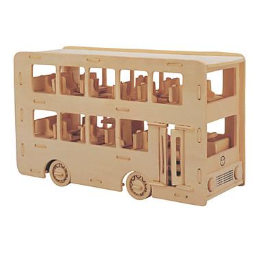 Rakennuspalikat 3D palapeli Palapeli Puiset palapelit Opetuslelut Linja-auto Kaksikerroksinen bussi Professional Level DIY Puu Joulu