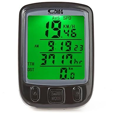 Jazda na rowerze Rower górski Komputer rowerowySPD - aktualna prędkość Drogomierz podświetlenie Time - czas od rozpoczęcia AV - średnia