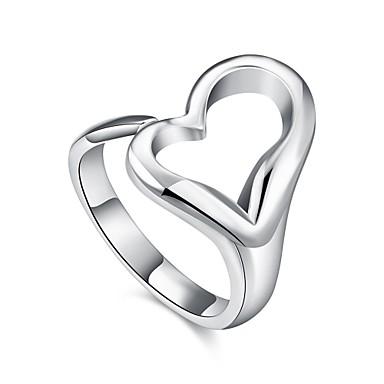 Inel Argintiu Articole de ceramică Argilă Inimă Zilnic Casual Costum de bijuterii