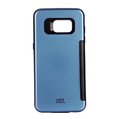 Pentru Titluar Card Maska Carcasă Spate Maska Culoare solida Greu PC pentru Samsung S7 edge S7