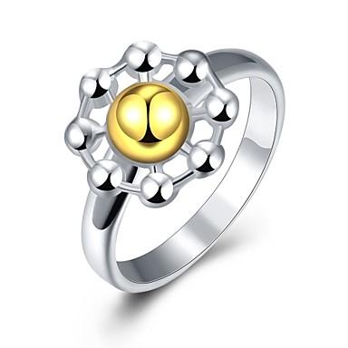 خاتم فضي نحاس مطلية بالذهب موضة يوميا فضفاض مجوهرات