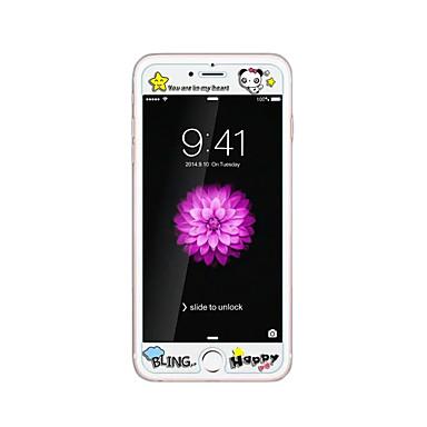 iPhone 6 / 6s 4.7inch karkaistu lasi läpinäkyvä edessä näytön suojakalvon kanssa emboss piirretty kuvio loistaa pimeässä panda