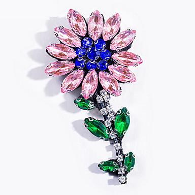 Kadın Broşlar Basic Tasarım Moda Elyapımı Avrupa alaşım Flower Shape Mücevher Uyumluluk Günlük