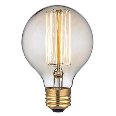 G95 220-240 V AC E27 60W żarówka drutu prosto retro twórczy sztuka osobowość dekoracyjny Edison światło 1szt