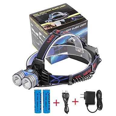 U'King Otsalamput Ajovalo LED 2000 lm 3 Tila Cree XM-L T6 Akuilla ja laturilla Hätä mobiili virtalähde Helppo kantaa High Power