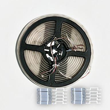 ZDM 5m obudowa wodoszczelna 0603 300pcs 24W biały zimny doprowadziły miękki pasek lampy z silikonowego 20szt klamrą (DC12V)