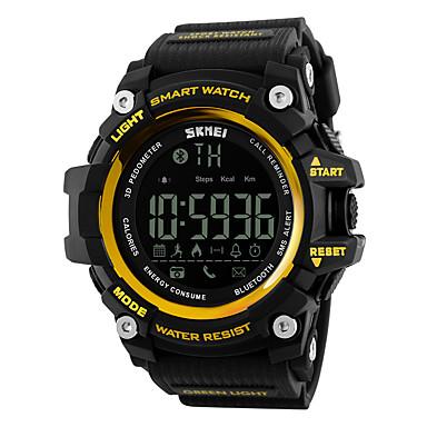 Χαμηλού Κόστους Ανδρικά ρολόγια-SKMEI Ανδρικά Γυναικεία Αθλητικό Ρολόι Έξυπνο ρολόι Ρολόι Καρπού Ψηφιακή καουτσούκ Μαύρο / Κόκκινο 30 m Ανθεκτικό στο Νερό Συναγερμός Ημερολόγιο Ψηφιακό Πολυτέλεια - Κίτρινο Κόκκινο Μπλε / LCD