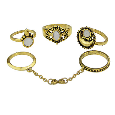 Δαχτυλίδια για τη Μέση του Δαχτύλου Κράμα Μοντέρνα Χρυσό Ασημί Κοσμήματα Καθημερινά 1set