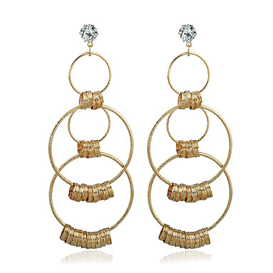 Γυναικεία θαυμαστής σκουλαρίκια Συνθετικό Diamond Ζιρκονίτης Επιχρυσωμένο Κοσμήματα Για Γάμου Πάρτι Causal