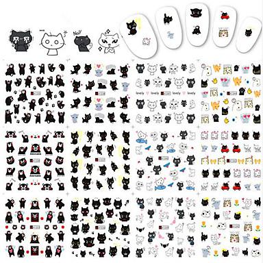 1pcs12design Sanat Sticker Nail Su Transfer Etiketi Makyaj Kozmetik Sanat Tasarım Nail