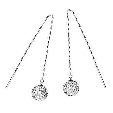 Kolczyki wiszące Cyrkonia Srebro standardowe Biżuteria Ślub Impreza Codzienny Casual Biżuteria kostiumowa