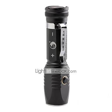 U'King Lanterne LED LED 2000 lm 3 Mod LED Focalizare Ajustabilă Reîncărcabil Clip Camping/Cățărare/Speologie Utilizare Zilnică