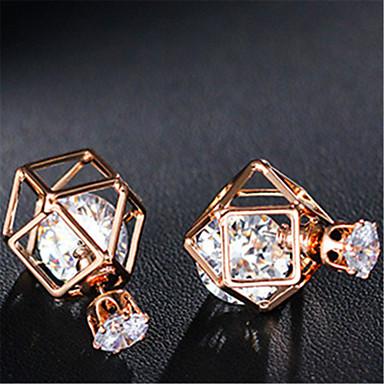 Χωρίς Πετράδι Κουμπωτά Σκουλαρίκια Κοσμήματα Γάμου Πάρτι Καθημερινά Causal Κράμα 1 ζευγάρι Χρυσαφί Ασημί
