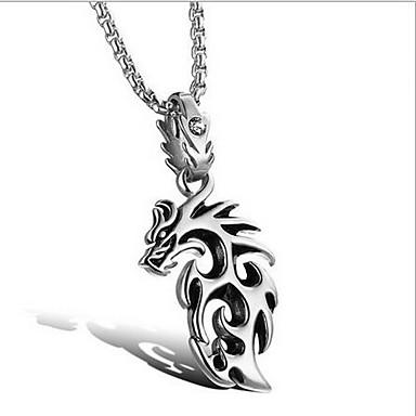 billige Mode Halskæde-Herre Vedhæng Dyreformet Drage Titanium Stål Enkelt design Mode Personaliseret Smykker Til Daglig Afslappet