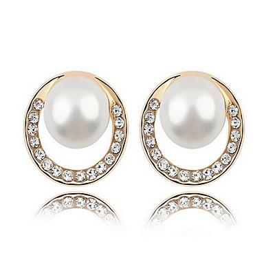 Κουμπωτά Σκουλαρίκια Μαργαριταρένια Μαργαριτάρι Κράμα Φύση Μοντέρνα Κοσμήματα Λευκό Μαύρο Σκούρο μπλε Γκρίζο Χάλκινο Κοσμήματα Καθημερινά