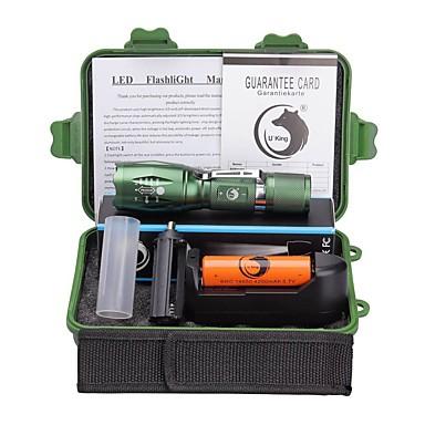 U'King Latarki LED LED 2000 lm 5 Tryb Cree XM-L T6 z baterią i ładowarką Zoomable Regulacja promienia Zatrzask Obóz/wycieczka/alpinizm