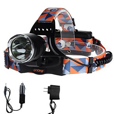 U'King Otsalamput Ajovalo LED 2000 lm 3 Tila Cree XM-L T6 Latureilla Helppo kantaa Telttailu/Retkely/Luolailu Päivittäiskäyttöön Pyöräily