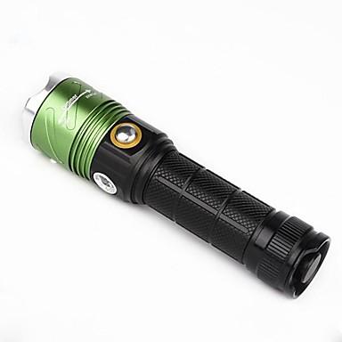 U'King LED taskulamput LED 2000 lm 3 Tila Cree XM-L T6 Zoomable Säädettävä fokus Himmennettävissä Väärennetyt Detector