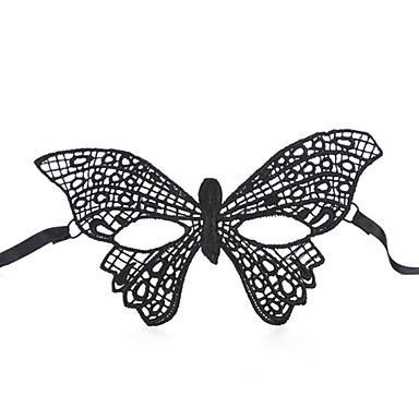 kadın moda seksi dantel örme dantel kelebek maske