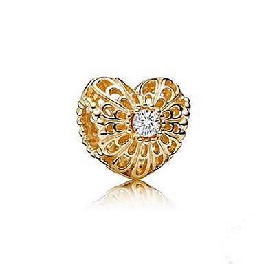 Bransoletki i łańcuszki na rękę Miłość Natura Srebro standardowe Imitacja diamentu Biżuteria Różowy Biżuteria Na Urodziny 1szt