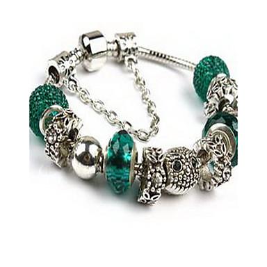 Zincir & Halka Bileklikler Doğa Moda Boncuklu Kristal alaşım Mücevher Mücevher Uyumluluk Doğumgünü