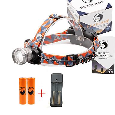 U'King Φακοί Κεφαλιού Μπροστινό φως 2000 lm 3 Τρόπος Cree XM-L T6 με μπαταρίες και φορτιστή Zoomable Ρυθμιζόμενη Εστίαση Πολυλειτουργία