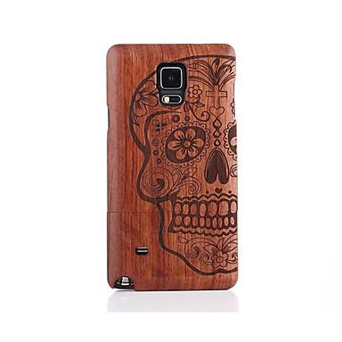 abordables Galaxy Note 4 Etuis / Couvertures-Coque Pour Samsung Galaxy Motif Coque Crânes Dur En bois pour Note 5 / Note 4
