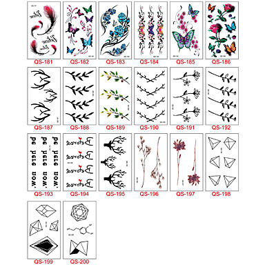 30 Naklejki z tatuażem Inne Non ToxicDziecko Dziecięce Damskie Męskie Dla nastolatków Tattoo Flash Tatuaże tymczasowe