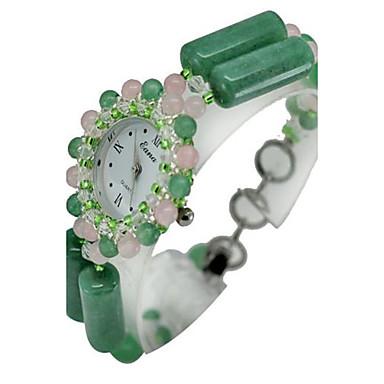 Kadın's Moda Saat Quartz Açık Yeşil Bant Günlük Yeşil