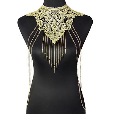 Damskie Biżuteria Łańcuch nadwozia / Belly Chain Modny Postarzane Bohemia Style Gotyckie Koronka Stop Flower Shape Geometric Shape Gold