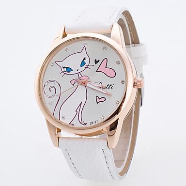 Pentru femei Quartz Ceas de Mână Ceas Elegant  Ceas Sport Mare Dial Material Bandă Charm Modă Multicolor